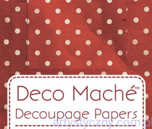 Papier Decoupage - Deco Maché - Red Polka