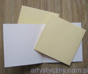 "Kartki i Koperty - Dovecraft Cream 6""x6"" Cards & Envelopes - Kremowe"