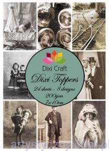 Papiery Dixi Toppers Crafts - 24 sheets ET0114