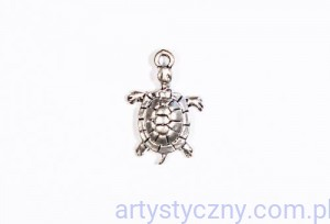 Metal Charms - Żółw - 4 szt