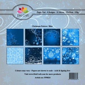 Papiery Dixi Craft - 15x15cm Christmas Pattern/Blue PP0024