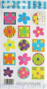Rub-On Transfers - Rubonsy Kalkomania - FUNKY FLOWERS