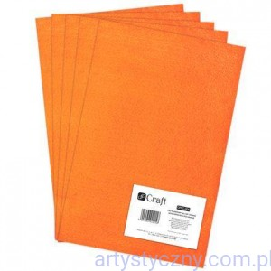 Filc 2mm - Arkusz A4 - ORANGE
