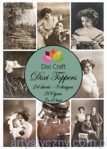 Papiery Dixi Toppers Crafts - 24 sheets ET0112