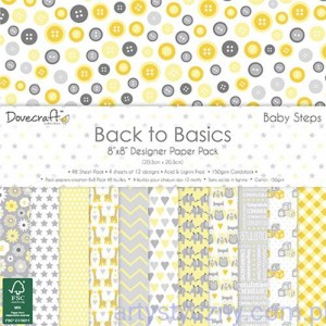 Papiery Ozdobne - Back to Basics Baby Steps - 20,3x20,3 cm ~ 48 ark