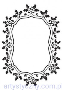 Folder Nellie - Christmas Oval Holly Frame - EFE024