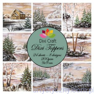 Papiery Dixi Toppers Crafts - 9x9 cm- 24 sheets ET0277