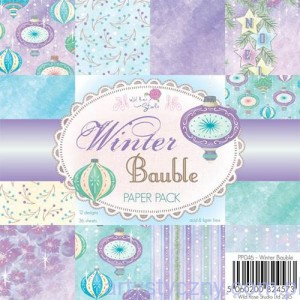 Papier Ozdobny WRS -  Winter Bauble - 15,3x15,3cm - 36 ark - PP046