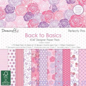 Papiery Ozdobne - Back to Basics Perfectly Pink - 15,3x15,3 cm ~ 72 ark