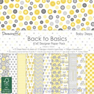 Papiery Ozdobne - Back to Basics Baby Steps - 15,3x15,3 cm ~ 72 ark