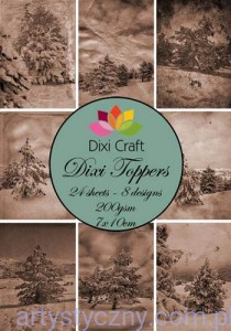 Papiery Dixi Toppers Crafts - 24 sheets ET0007