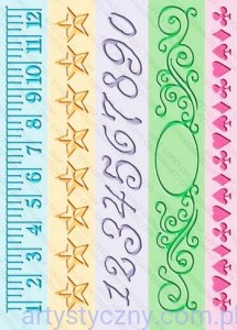 Cuttlebug Embossing Folders - 5x Measure by Measure - Lamówki