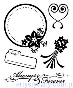 Basic Grey Cappella Forever Bitsy Clear Stamps - Stemple Akrylowe 5szt