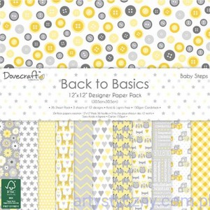 Papiery Ozdobne - Back to Basics - Baby Steps - 30,5x30,5 cm ~ 36 ark