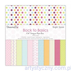 Papiery Ozdobne - Back to Basics Bright Spark - 20,3x20,3 cm ~ 48 ark
