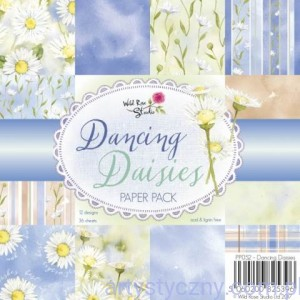 Papier Ozdobny WRS - Dancing Daisies - 15,3x15,3cm - 36 ark - PP052