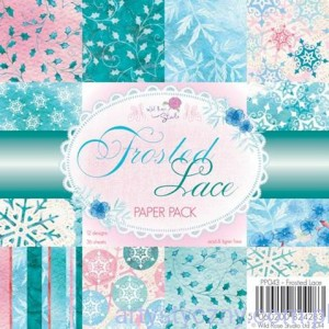 Papier Ozdobny WRS - Frosted Lace - 15,3 x 15,3 cm - 36 ark - PP043
