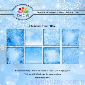 Papiery Dixi Craft - 15x15cm Christmas Time/Blue PP0048