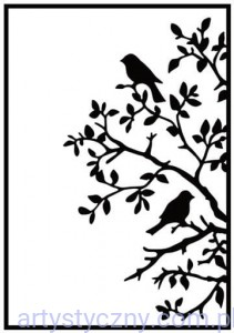 Folder Nellie - Birds on Branch - Ptaszki HSF017