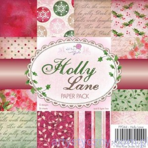 Papier Ozdobny WRS - Holly Lane - 15,3 x 15,3 cm - 36 ark - PP044