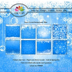Papiery Dixi Craft - 15x15cm Snow Crystal Blue PP0088