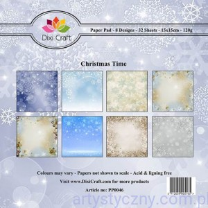 Papiery Dixi Craft - 15x15cm Christmas Time PP0046