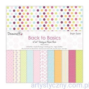 Papiery Ozdobne - Back to Basics Bright Spark - 30,5x30,5 cm ~ 36 ark